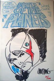 Battle of the Planets #2 Full head sketch edition Signed Lansang COA Ltd 100